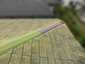屋根塗装・板金交換工事前