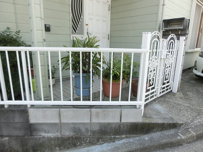 フェンス取付工事後