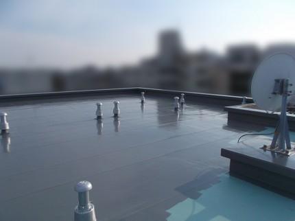 屋上防水工事、上塗