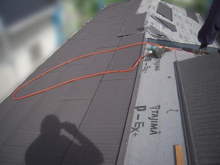 屋根カバー工事、屋根葺き