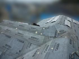 屋根カバ―工事、防水シート