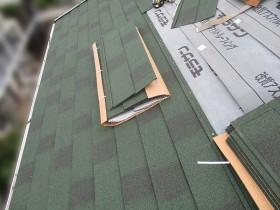 屋根カバー工事中の写真②