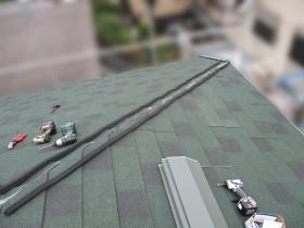 屋根カバー工事中の写真③