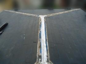 屋根カバー工事板金貫板撤去