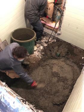 浴室改修工事施工中
