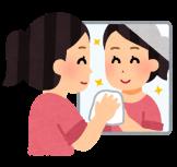 浴室の鏡に白い水垢、汚れについて