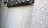 サッシ窓枠下の汚れ