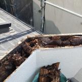 バルコニー笠木の腐食